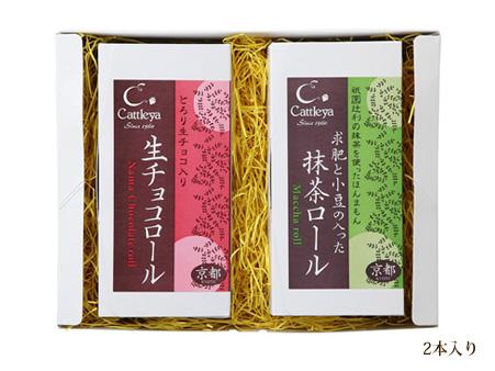薄もちと小豆の抹茶ロール